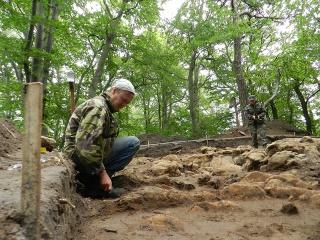 Археологічні розкопки на горі Жупан (м.Винники)